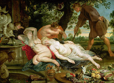 Cimon And Iphigenia, 1617 Poster by Peter Paul Rubens