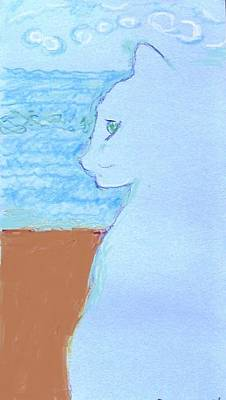Cindy By The Sea Poster by Anita Dale Livaditis