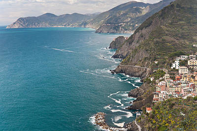 Cinque Terre Coast View Poster by Mike Reid
