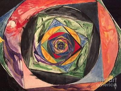 Circle Takes The Square Poster by Daniel Piskorski