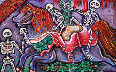 Circo De Los Muertos Poster by Laura Barbosa