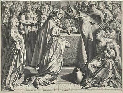 Circumcision Of Christ, Print Maker Egbert Van Panderen Poster by Egbert Van Panderen And Ludovicus Finsonius And Pieter Van Der Keere