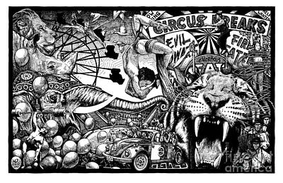 Circus Breaks Poster by Matthew Ridgway