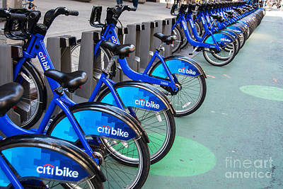 Citibike Rentals Nyc Poster by Amy Cicconi