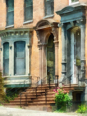 Cities - Albany Ny Brownstone Poster by Susan Savad