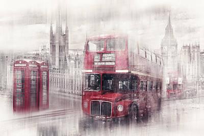 City-art London Westminster Collage II Poster by Melanie Viola