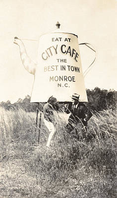 City Cafe - Best In Town - Monroe North Carolina Poster by Mark E Tisdale