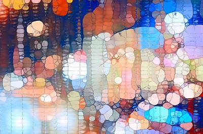 City Lights Urban Abstract Poster by Dan Sproul