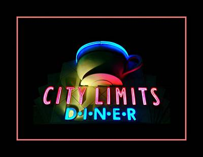 City Limits Diner Poster by Diana Angstadt