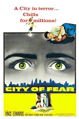 City Of Fear, Us Poster, Vince Edwards Poster by Everett
