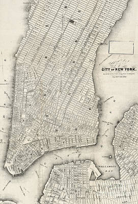 City Of New York Circ 1860 Poster by Edward Fielding
