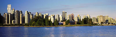 City Skyline, Vancouver, British Poster by Panoramic Images