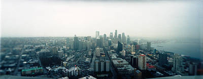 City Viewed From The Space Needle Poster by Panoramic Images