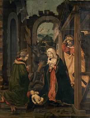 Civerchio Vincenzo, Nativity With St Poster by Everett