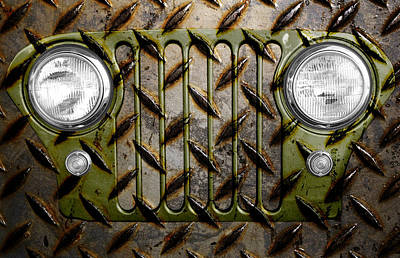 Civilian Jeep- Olive Green Poster by Luke Moore