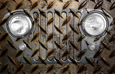 Civilian Jeep- Steel Gray Poster by Luke Moore