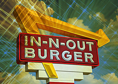 Classic Cali Burger 2.3 Poster by Stephen Stookey