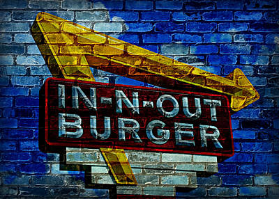 Classic Cali Burger 2.4 Poster by Stephen Stookey
