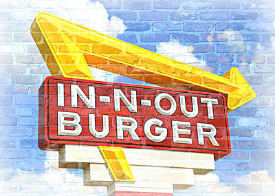 Classic Cali Burger 2.5 Poster by Stephen Stookey