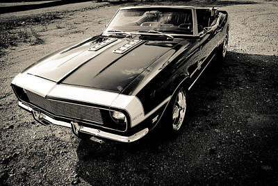 Classic Convertable Camaro  Poster by Off The Beaten Path Photography - Andrew Alexander