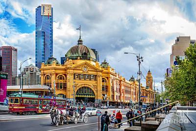 Classic Melbourne Poster by Az Jackson