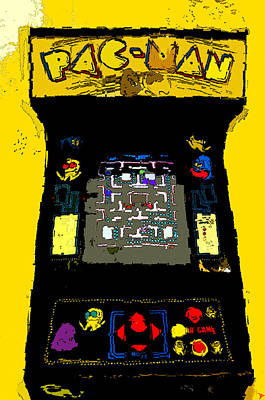 Classic Pacman Poster by David Lee Thompson