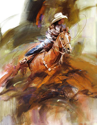 Classic Rodeo 6 Poster by Maryam Mughal