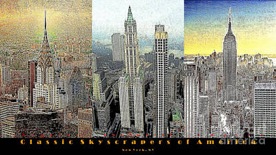 Classic Skyscrapers Of America 20130428 Poster by Wingsdomain Art and Photography