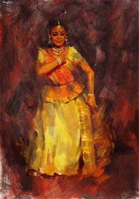 Classical Dance Art 18 Poster by Maryam Mughal