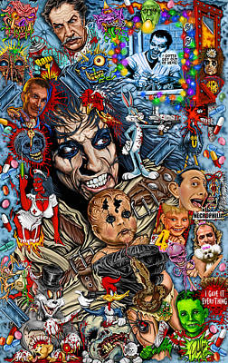 Clear A Path You Mothers I'm Going Home  Alice Cooper Poster by Timothy Phillips