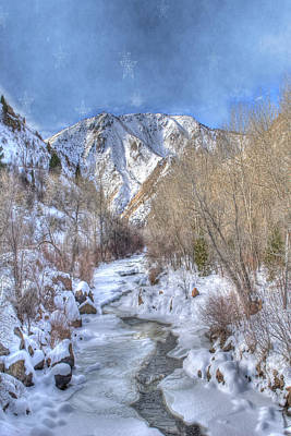 Clear Creek In The Winter Poster by Juli Scalzi