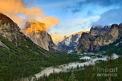 Clearing Storm - View Of Yosemite National Park From Tunnel View. Poster by Jamie Pham