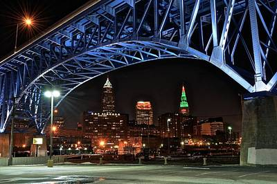 Cleveland Framed In Color Poster by Frozen in Time Fine Art Photography