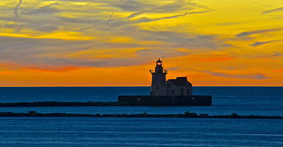 Cleveland Lighthouse Poster by Frozen in Time Fine Art Photography