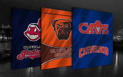 Cleveland Sports Teams Poster by Joe Hamilton