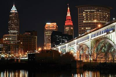 Cleveland Up Close Poster by Frozen in Time Fine Art Photography
