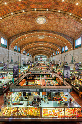Cleveland West Side Market IIi Poster by Clarence Holmes