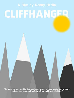 Cliffhanger Minimalist Movie Poster Poster by Celestial Images