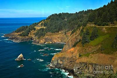 Cliffs At Cape Foulweather Poster by Adam Jewell