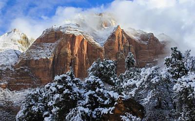 Cliffs Of Zion Poster by Laura Zirino