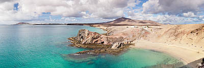Cliffs On The Beach, Papagayo Beach Poster by Panoramic Images