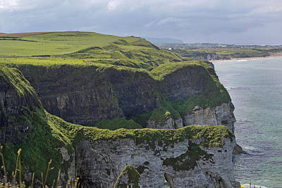 Cliffside Antrim Ireland Poster by Betsy C Knapp