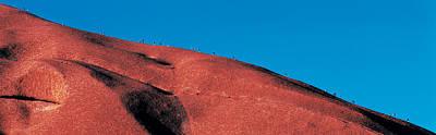 Climbers Ayers Rock Uluru Park Australia Poster by Panoramic Images