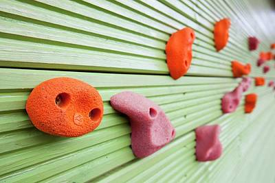 Climbing Wall Poster by Ashley Cooper