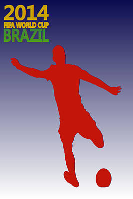 Clint Dempsey Usa World Cup Poster by Joe Hamilton