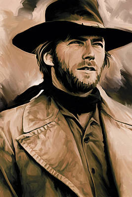 Clint Eastwood Artwork Poster by Sheraz A