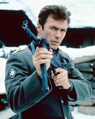 Clint Eastwood In Where Eagles Dare  Poster by Silver Screen