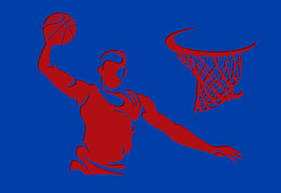 Clippers Shadow Player1 Poster by Joe Hamilton