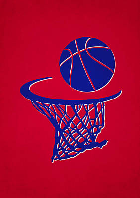 Clippers Team Hoop2 Poster by Joe Hamilton