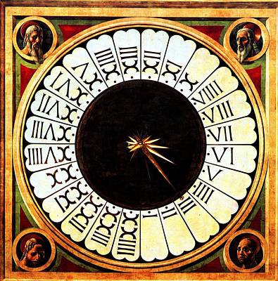 Clockface Poster by Paolo Uccello